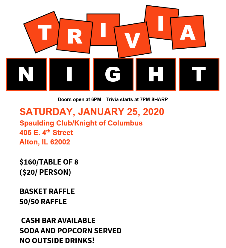 2020 Trivia Night @ Spaulding Club/Knight of Columbus