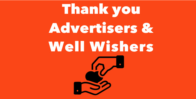 thank you advertisers and well wishers